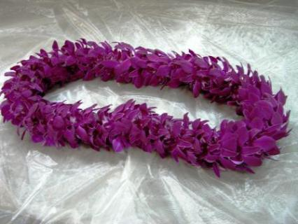 Orchid Lei-Solid Purple